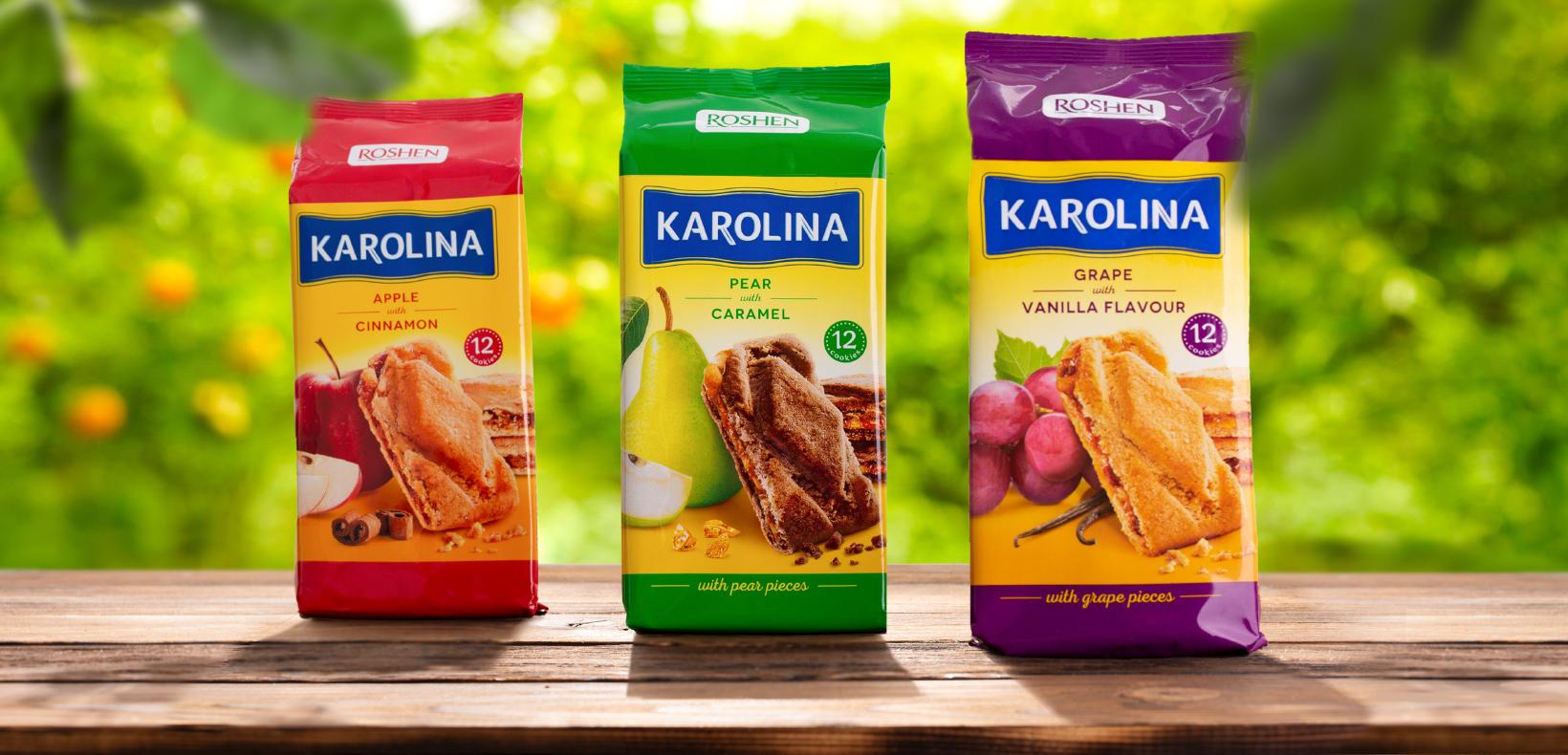 """упаковка печенья с начинкой Roshen """"Karolina"""""""