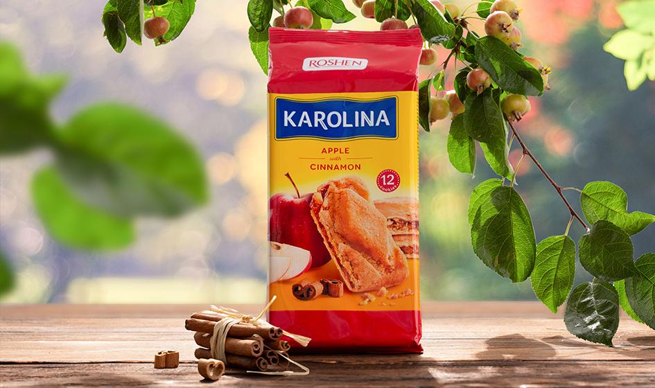 """упаковка печенья Roshen """"Karolina"""" яблоко"""