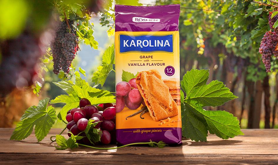"""упаковка печенья Roshen """"Karolina"""" виноград"""