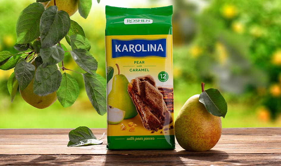 """упаковка печенья Roshen """"Karolina"""" груша"""