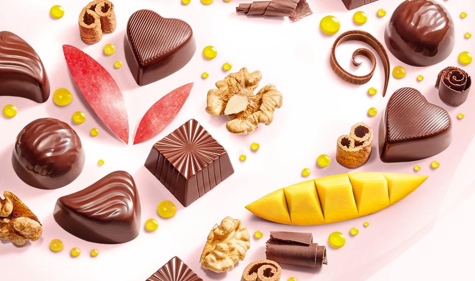 """продуктовое изображение на коробке конфет Roshen """"Compliment"""""""