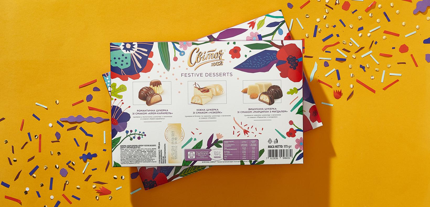 "упаковка конфет Свиточ ""Festive desert"""