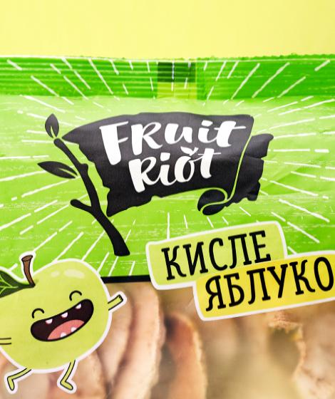 упаковка Fruit Riot кислое яблоко close up