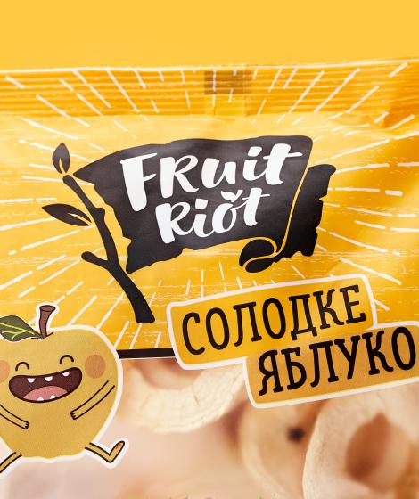 упаковка Fruit Riot сладкое яблоко close up