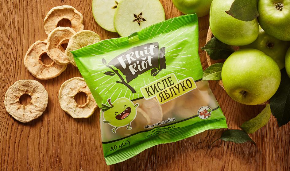 пример упаковки Fruit Riot кислое яблоко