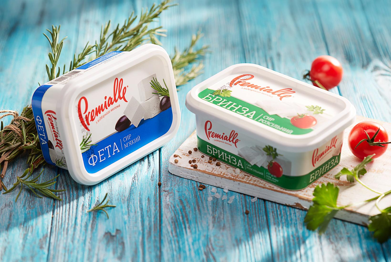 редизайн упаковки Premialle мягкого сыра