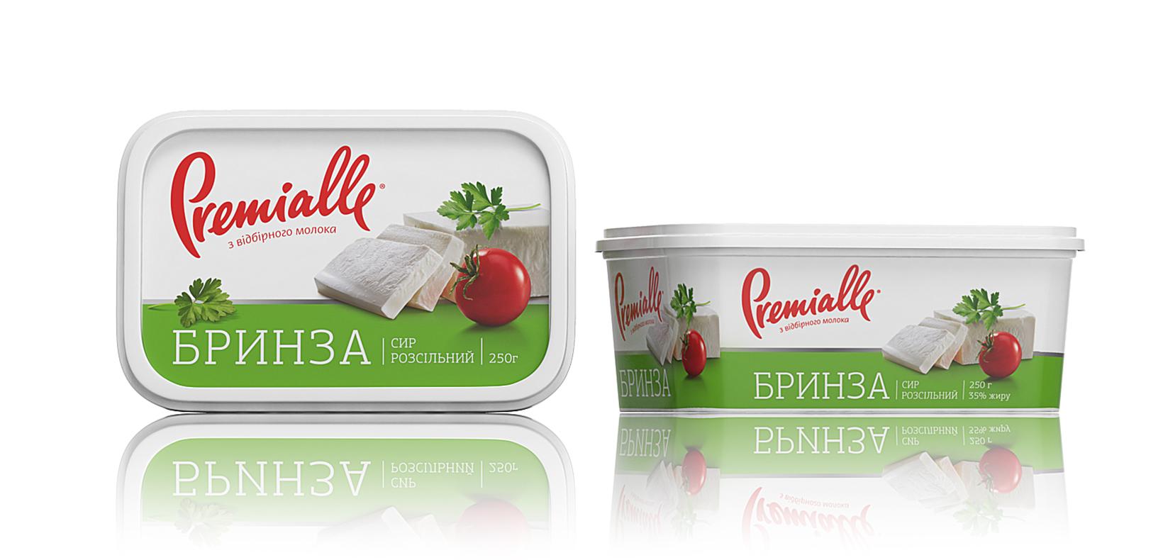 упаковка брынзы Premialle