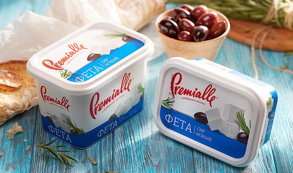 упаковка сыра фета Premialle