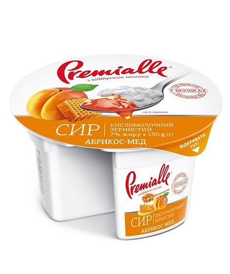 упаковка зернистого сыра Premialle