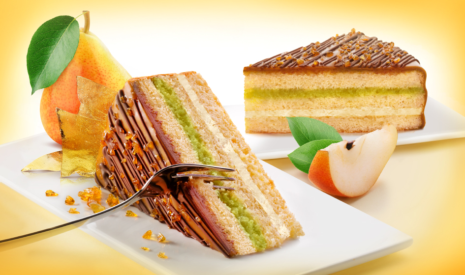 продуктовая композиция груша-карамель торт Roshen