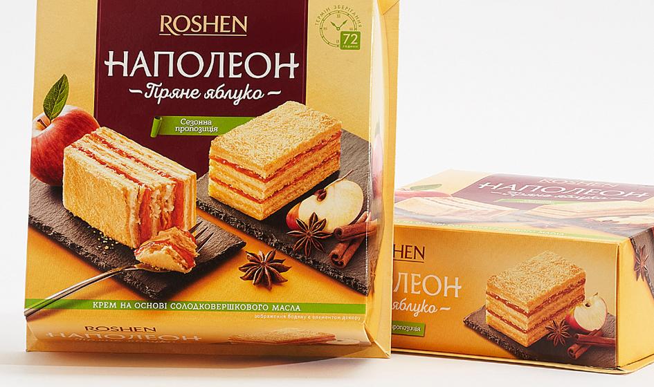 "дизайн упаковки Roshen торт ""Наполеон"""