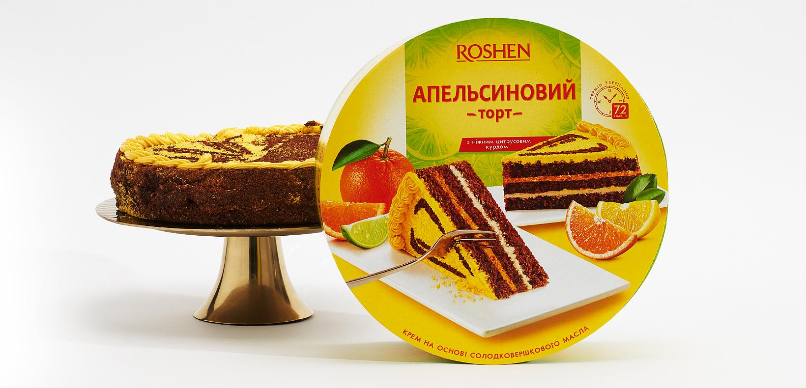 упаковка апельсинового торта Roshen