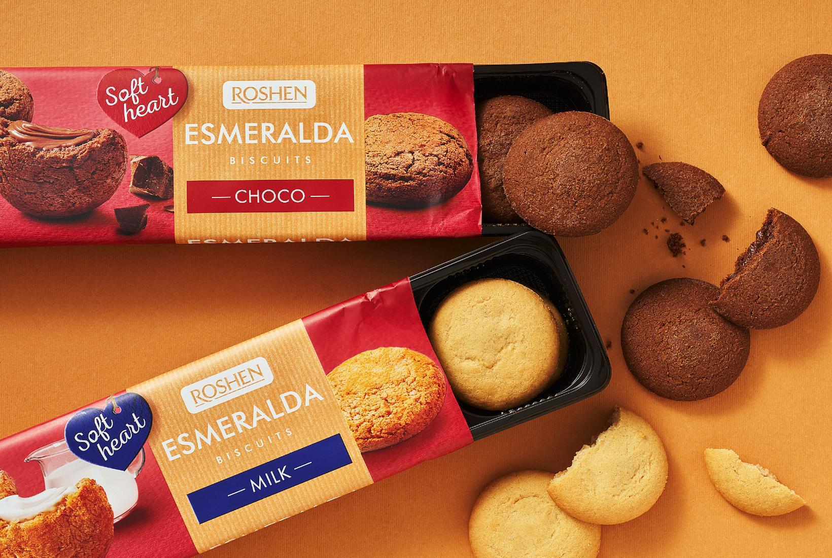Roshen редизайн упаковки печенья