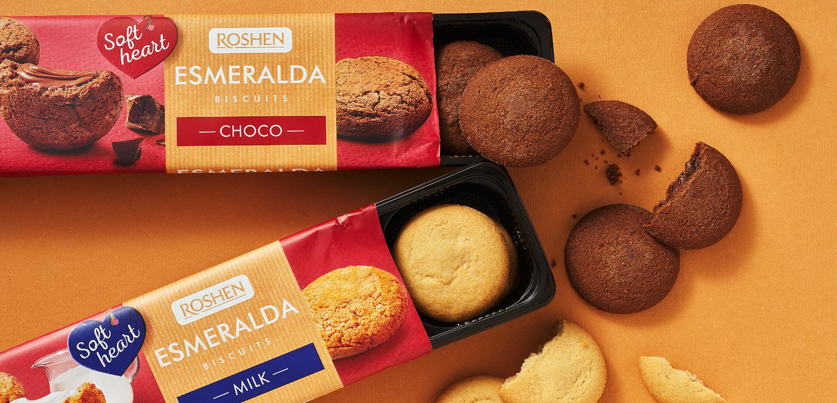 """печень с мягкой начинкой Roshen """"Esmeralda"""""""