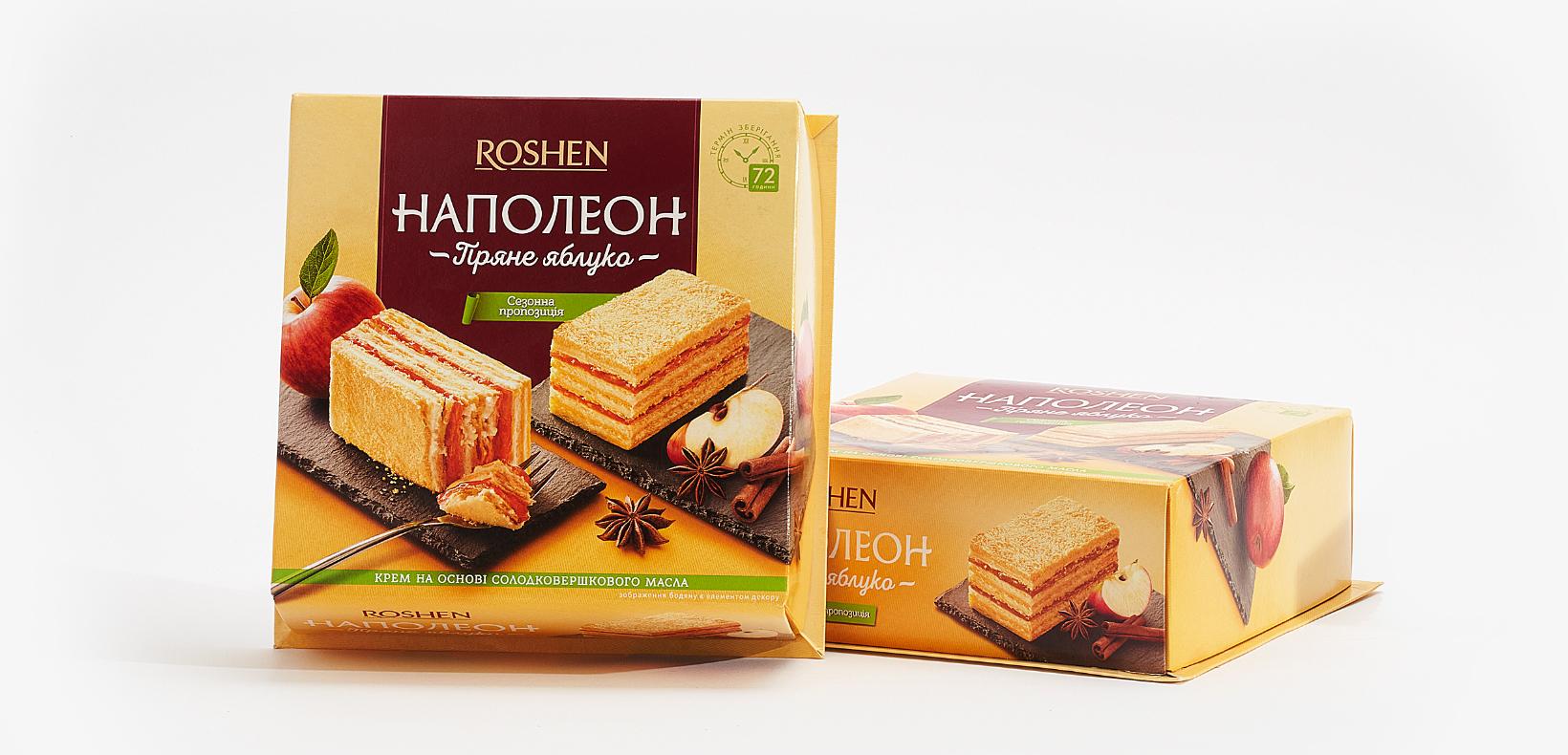 """торт пряное яблоко Roshen """"Наполеон"""""""