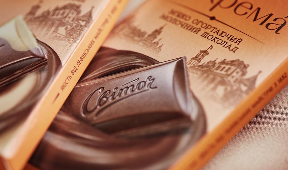 упаковка шоколада Свиточ крема