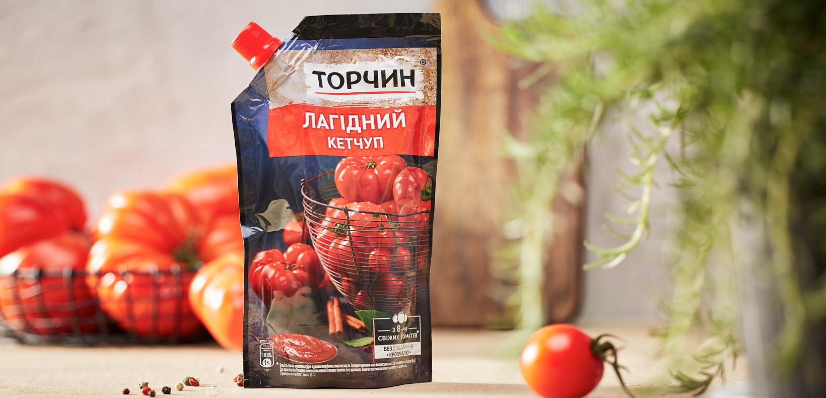 """упаковка кетчуп """"Торчин"""" лагидный"""