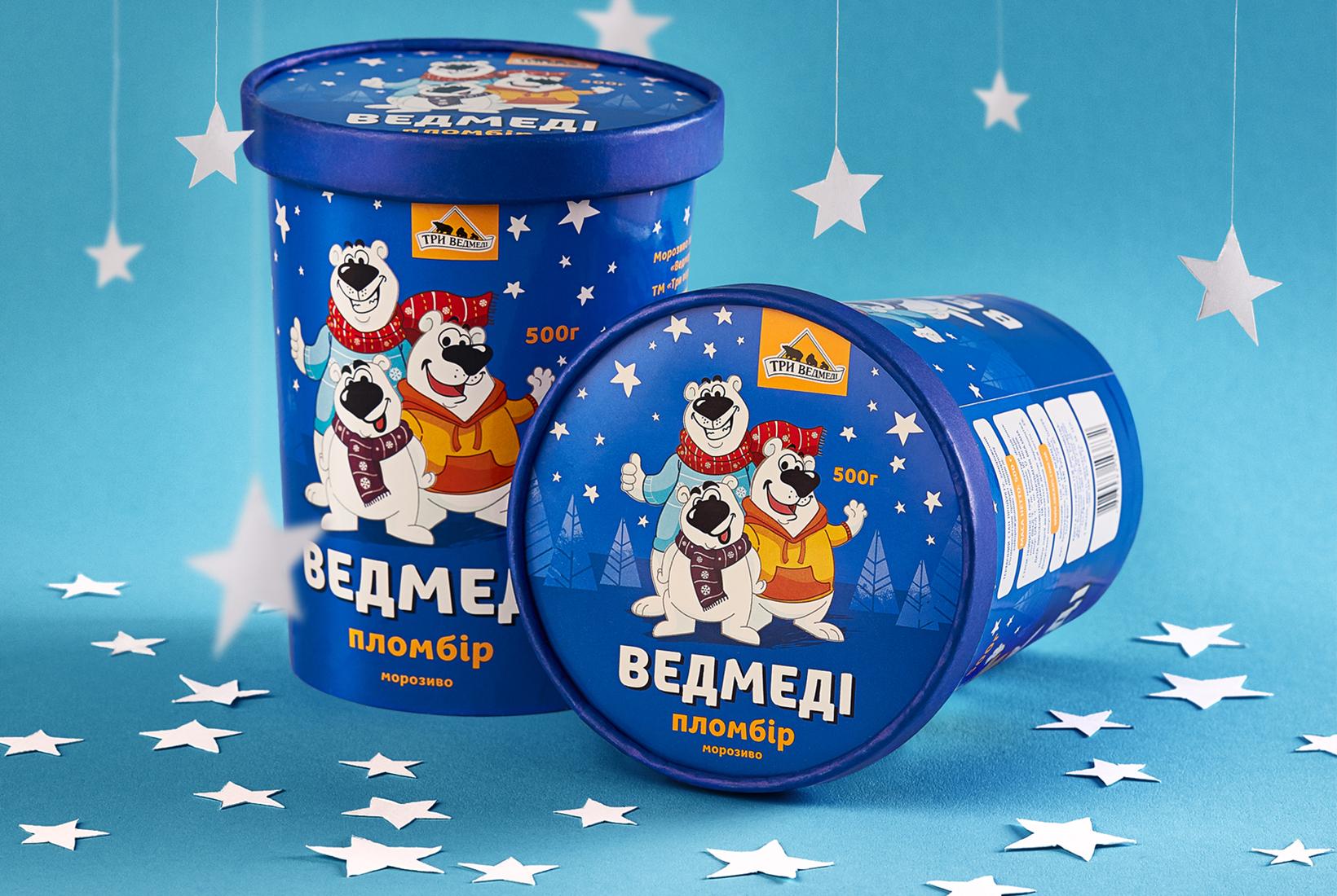 """""""Три ведмеді"""" редизайн упаковки мороженного"""