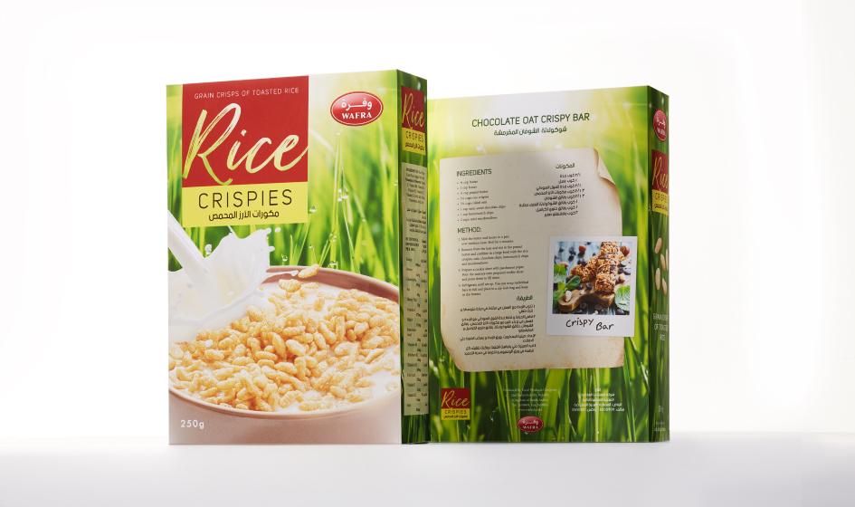 упаковка рисовых криспов