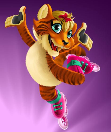 бренд герой девочка тигр