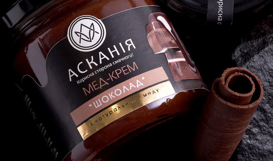 упаковка крем-меда Ascania шоколад