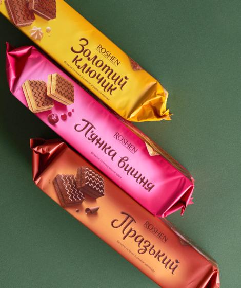 редизайн упаковки Roshen бисквиты