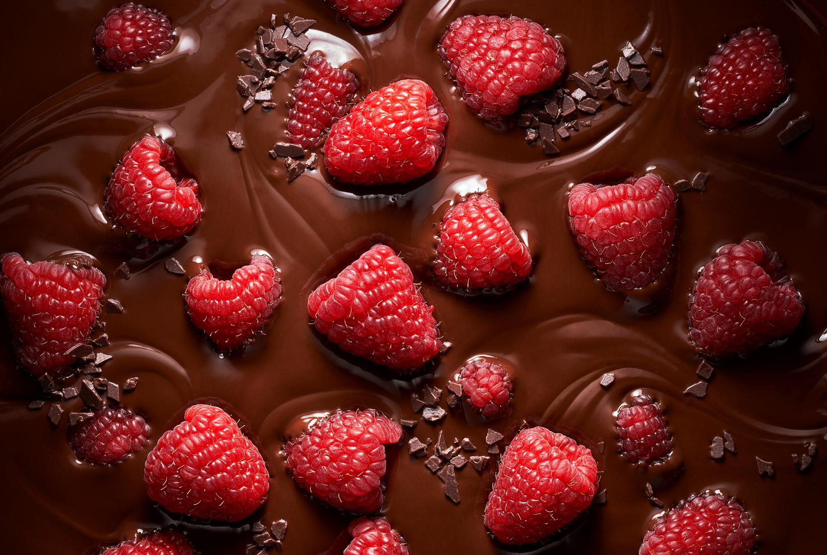 малина в шоколаде, raspberry chocolate